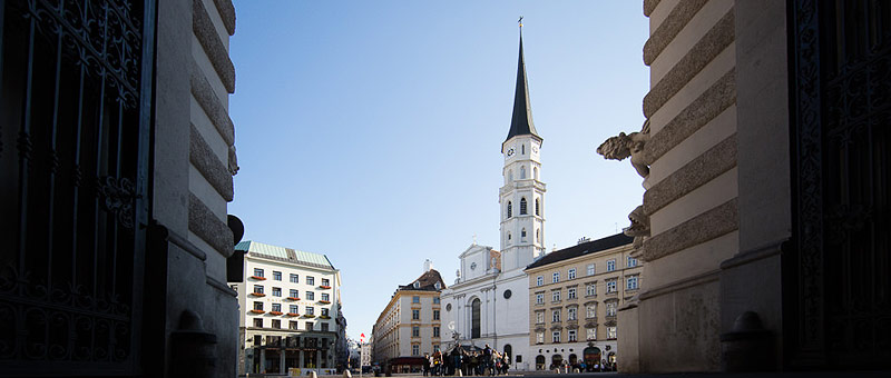 Header Michaelerplatz und Michaelerkirche