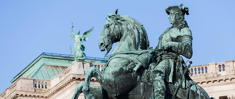 Header Reiterdenkmäler am Heldenplatz