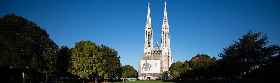 Slider Votivkirche und Vorplatz