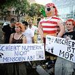 Demonstration gegen Abschiebepolitik © ÖNB / GEORG HOCHMUTH / APA / picturedesk.com (APA_20130806_PD1929)