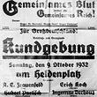 Gemeinsames Blut - Gemeinsames Reich - Kundgebung - am Heldenplatz © ÖNB (PLA16317322)
