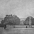 """Entwurf für ein """"Denkmal der Arbeit"""" statt des Denkmals der Republik am Schmerlingplatz © ÖNB (S 357/138)"""