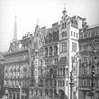 Wien 1, Neuer Markt 1/2. Straßenbahnen vor dem Hotel 'Meissl & Schadn'. Diagonalaufnahme von erhöhtem Standpunkt. © ÖNB (105.364D)