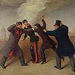 J. J. Reiner: Das Attentat auf Kaiser Franz Josef I am 18. Februar 1853, Ölgemälde 1853 © Wien Museum