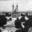 Votivkirche. Frontalansicht der Fassade. © ÖNB (US 2138)
